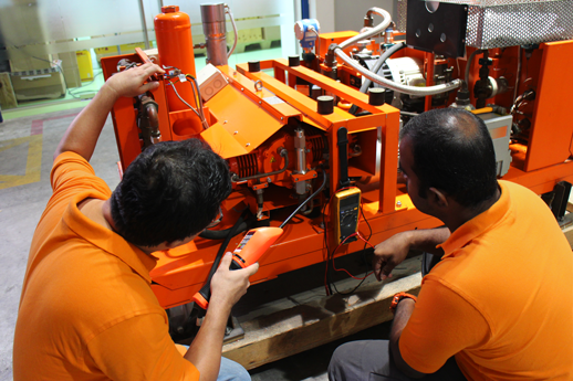 Maintenance and repair of service carts at DILO Asia-Pacific Pte. Ltd.