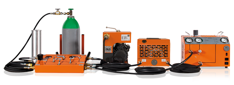 SF6 equipment: DILO Mini Series as portable version with individual components, SF6 maintenance units