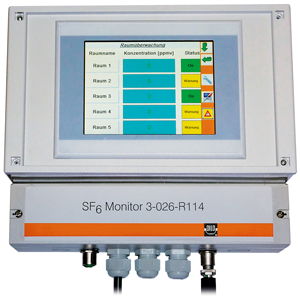 "DILO control unit for SF6 Air Sensors: ""SF6-Network Monitor"" 3-026-R114, SF6 leak detection"